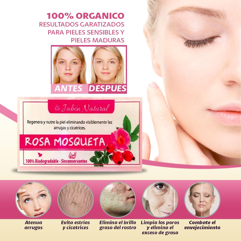 3 Jabones Rosa Mosqueta Regular