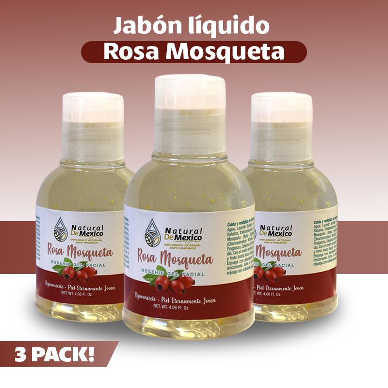 3 Jabones Líquidos De Rosa De Mosqueta