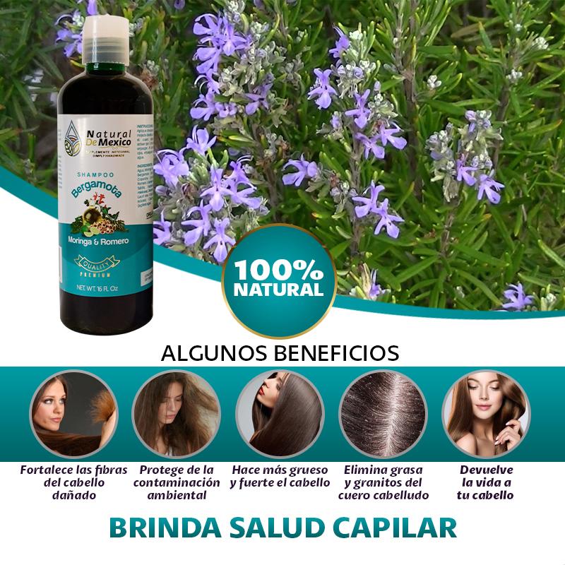 3 Shampoo Bergamota, Moringa Y Romero