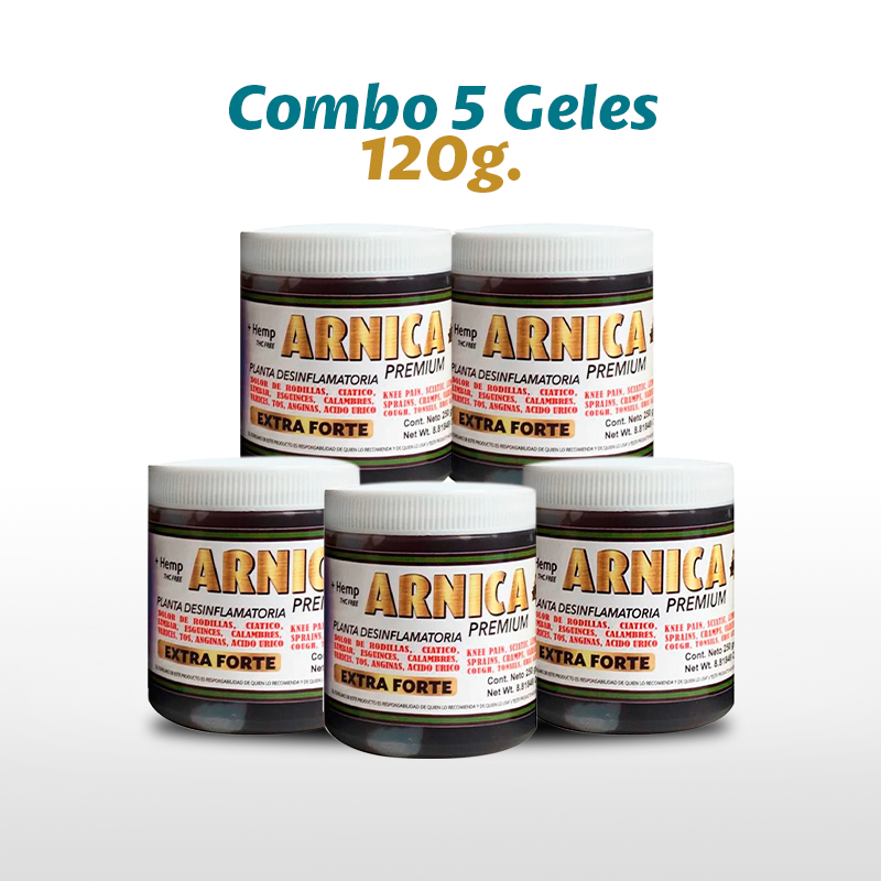 5 Arnica Premium Tapa Blanca 120 G