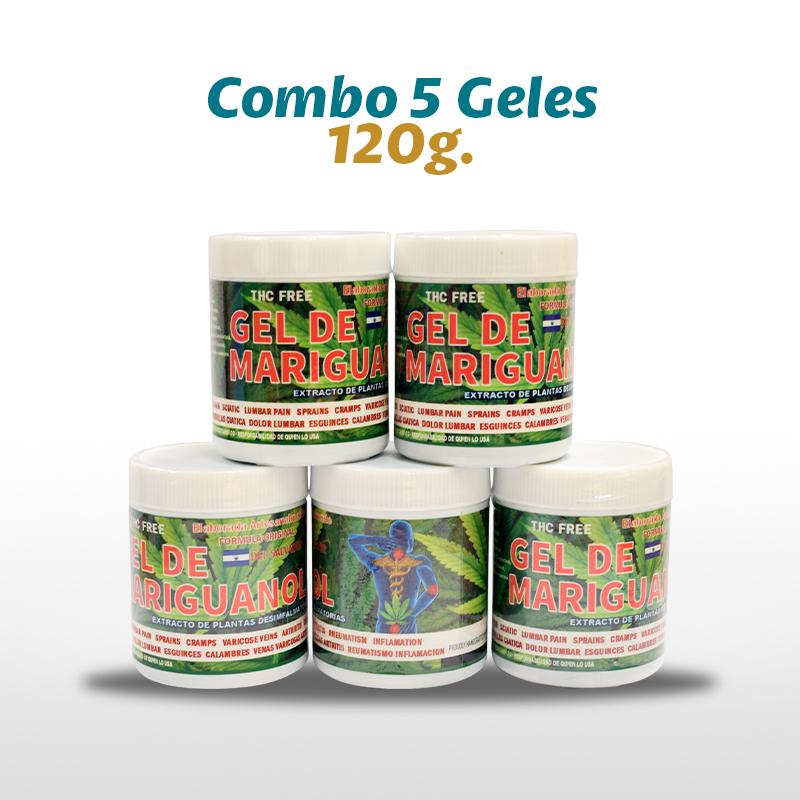5 Gel De Mariguanol De El Salvador 120 G