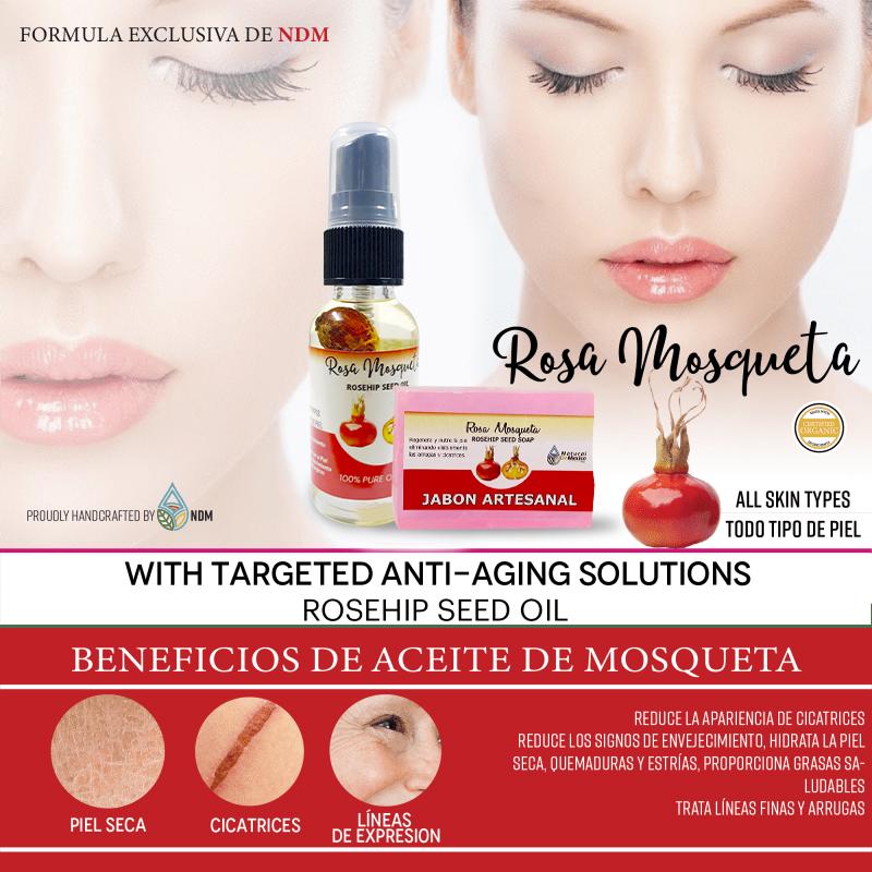 Aceite Y Jabón Artesanal Rosa Mosqueta