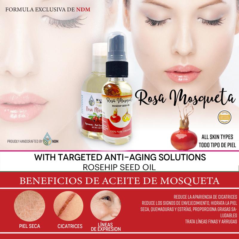 Aceite Y Jabón Líquido Rosa Mosqueta
