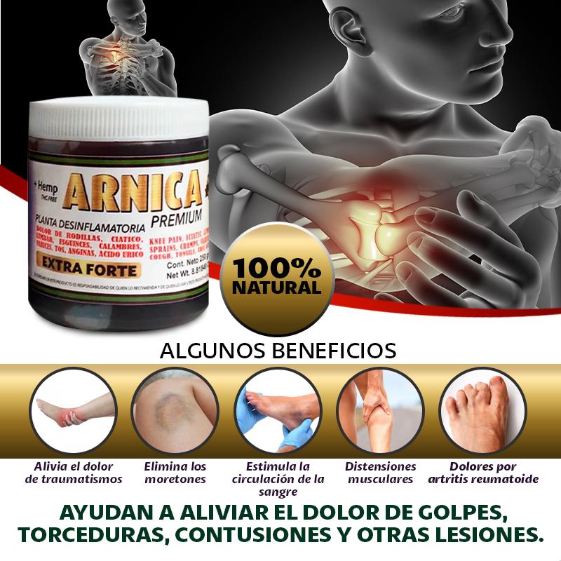 Arnica Premium Extra Forte Tapa Blanca 250 G