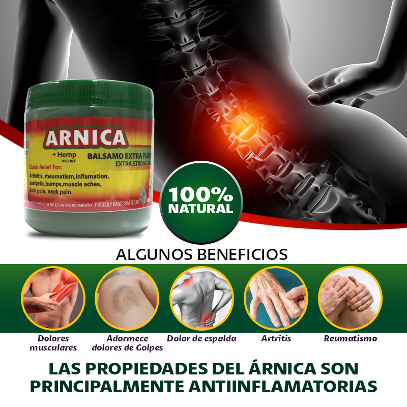 Arnica Tapa Verde Para El Dolor Muscular 250 G