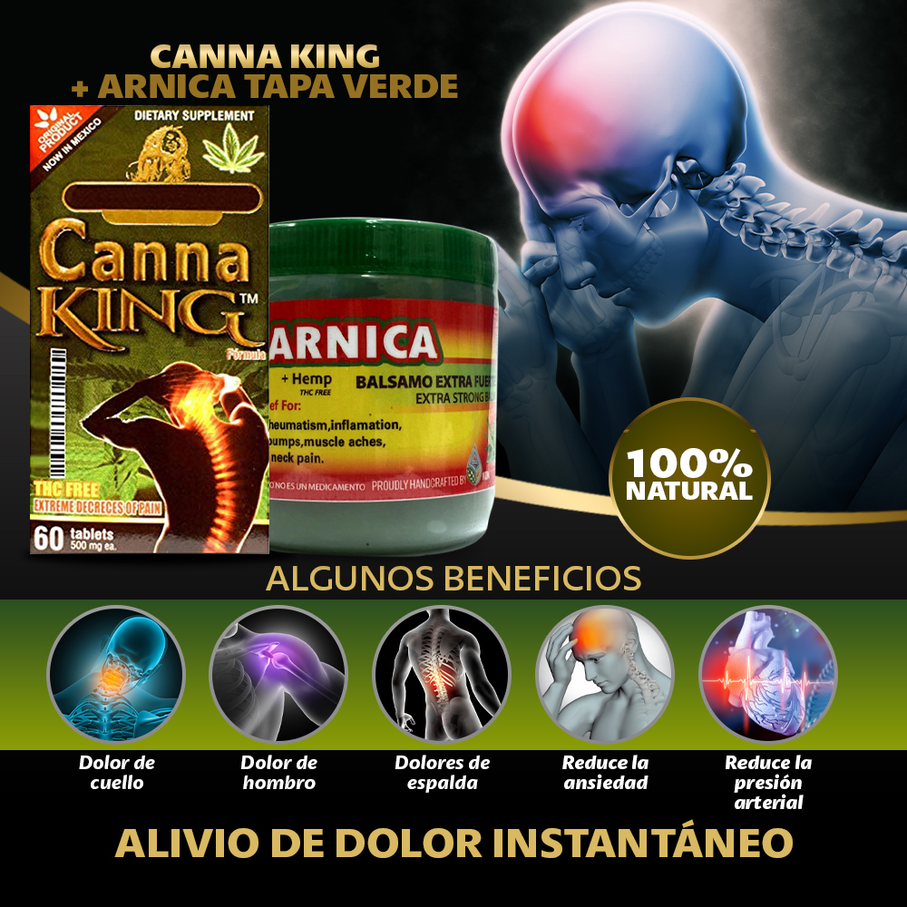 Canna King + Gel De Arnica 120 G