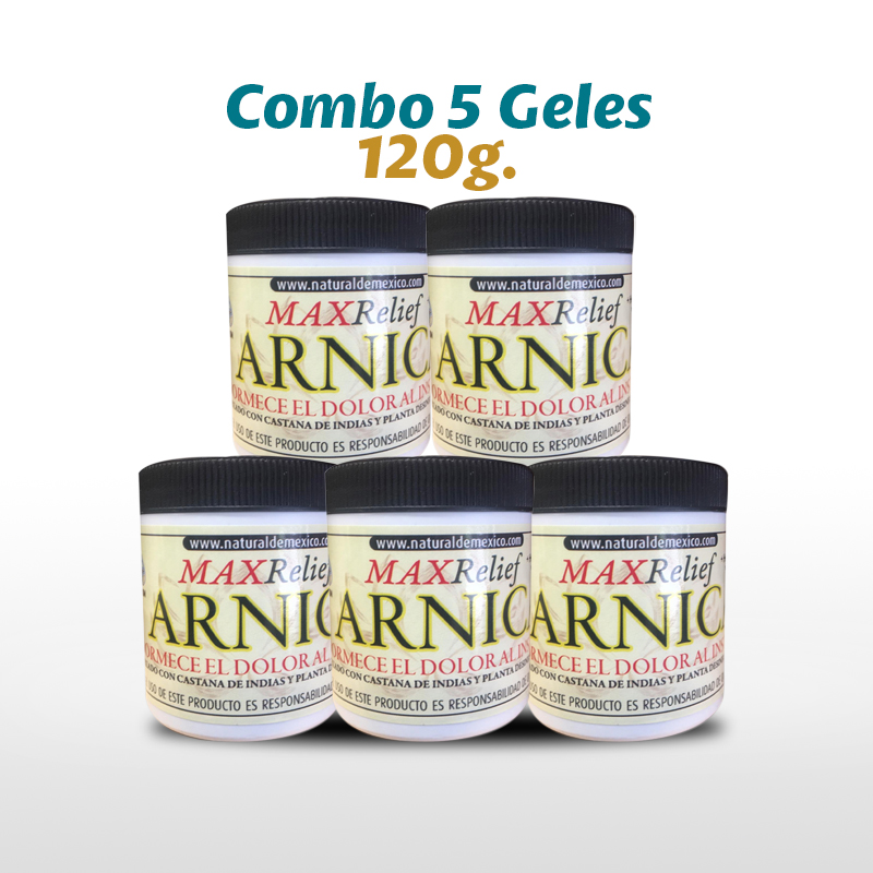 Combo 5 Max Relief Arnica 120 G.