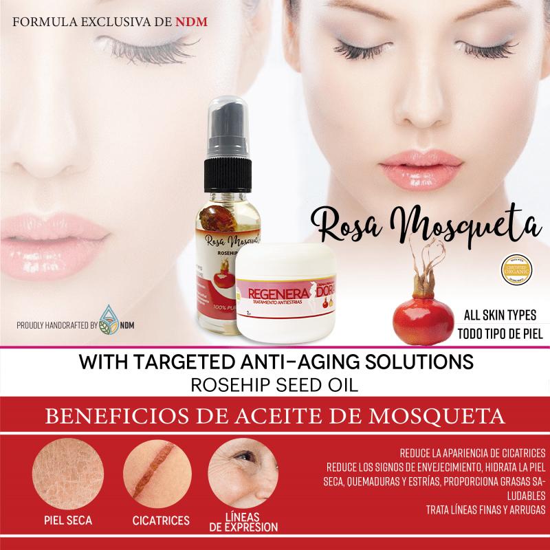 Crema Rejeneradora Y Aceite De Rosa Mosqueta Gratis
