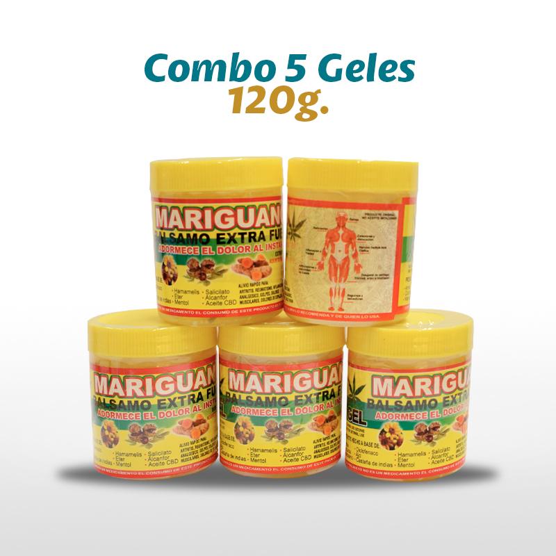 5 Mariguanol Balsamo Extra Forte Con Castaño De Indias 120 G