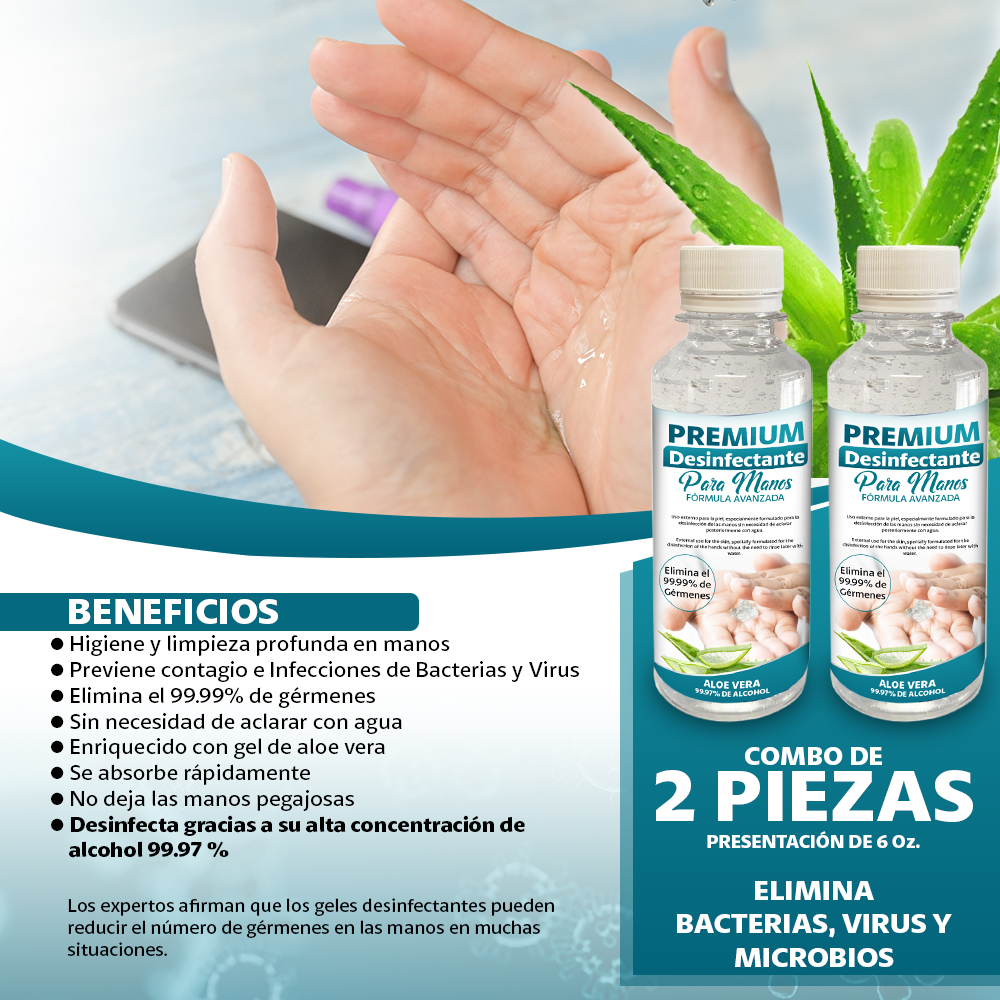 Gel Premium Desinfectante Para Manos