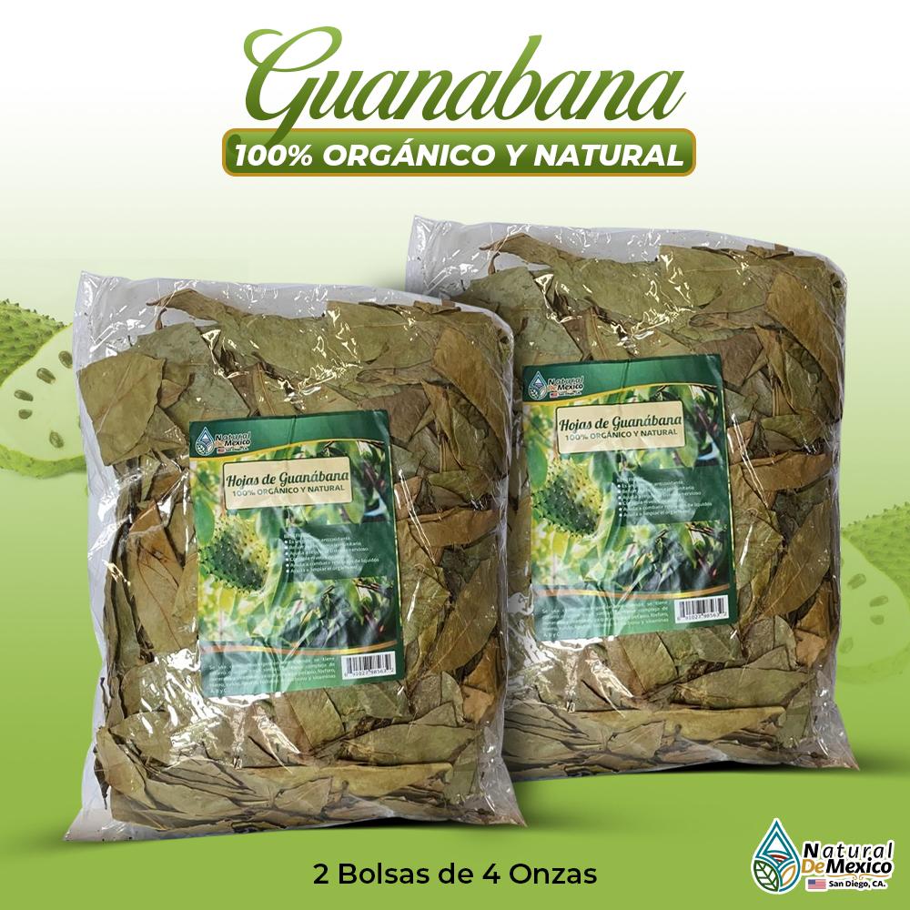 Hojas De Guanábana – 2 Paquetes De 4 Onzas